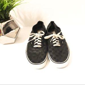 Vans black checked size 11